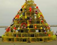 Albero di Natale del pescatore immagini stock libere da diritti