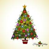Albero di Natale del pino Fotografie Stock