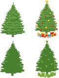 Albero di Natale del pino Fotografia Stock