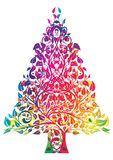 Albero di Natale del Rainbow Fotografia Stock Libera da Diritti