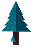 Albero di Natale del ricamo ad ago Fotografie Stock Libere da Diritti
