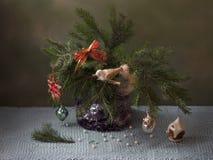 Albero di Natale dell'annata fotografia stock