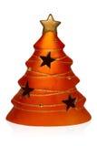 Albero di Natale dell'argilla in arancia Fotografia Stock Libera da Diritti