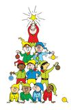 Albero di Natale dell'elfo Fotografie Stock
