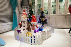 Albero di Natale dell'interno del posto di Hyatt della stella di LONGHU 2012 Immagini Stock