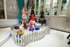 Albero di Natale dell'interno del posto di Hyatt della stella di LONGHU 2012 Fotografia Stock