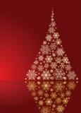 Albero di Natale dell'oro Fotografia Stock Libera da Diritti