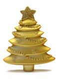 Albero di natale dell'oro Fotografie Stock Libere da Diritti
