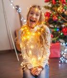 Albero di Natale della decorazione del bambino fotografia stock libera da diritti
