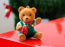 albero di Natale della decorazione della sfuocatura Immagini Stock Libere da Diritti