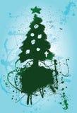 Albero di Natale della priorità bassa del pennello Fotografia Stock