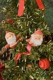 Albero di Natale della Santa Klaus e Fotografia Stock