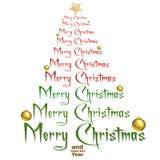 Albero di Natale della siluetta Fotografie Stock