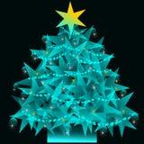 Albero di Natale della stella Immagini Stock
