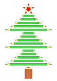 Albero di Natale delle matite Fotografia Stock Libera da Diritti