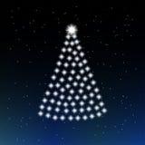 Albero di Natale delle stelle Fotografia Stock