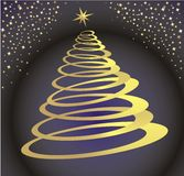 Albero di Natale dello spazio Fotografie Stock Libere da Diritti