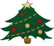 Albero di Natale di arte di piega Fotografie Stock