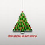 Albero di Natale di carta Fotografie Stock