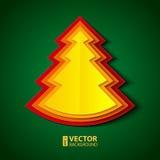 Albero di Natale di carta Immagini Stock Libere da Diritti