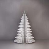 Albero di Natale di carta Fotografia Stock