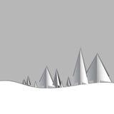 Albero di Natale di carta con ombra royalty illustrazione gratis