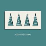 Albero di Natale di carta creativo Fotografia Stock Libera da Diritti