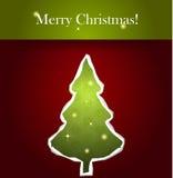 Albero di Natale di carta di vettore Fotografie Stock
