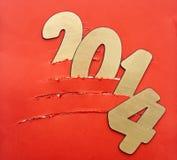 Albero di Natale di carta lacerato Immagine Stock
