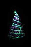 albero di Natale di colore Fotografie Stock