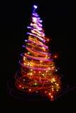 albero di Natale di colore Fotografia Stock Libera da Diritti