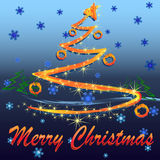 Albero di Natale di incandescenza Immagine Stock Libera da Diritti