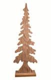Albero di Natale di legno Fotografie Stock
