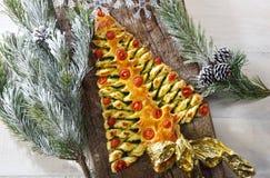 Albero Di Natale di makaronu sfoglia Obrazy Royalty Free