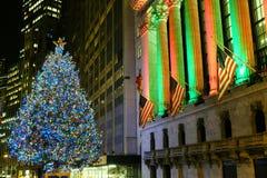 Albero di Natale di New York Stock Exchange Immagine Stock