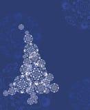 Albero di Natale di notte Fotografia Stock Libera da Diritti