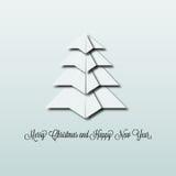 Albero di Natale di origami Fotografia Stock