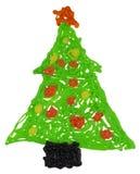 Albero di Natale di plastica Fotografie Stock Libere da Diritti