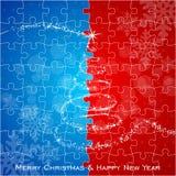 Albero di Natale di puzzle Immagini Stock