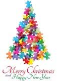 Albero di Natale di puzzle Fotografia Stock Libera da Diritti