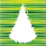 Albero di Natale di Swirly Fotografia Stock