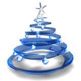 Albero di Natale di vetro moderno Fotografia Stock