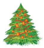 Albero di Natale disegnato a mano Illustrazione Vettoriale