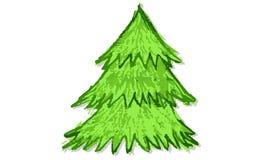 Albero di Natale disegnato a mano Fotografia Stock Libera da Diritti