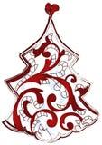 Albero di Natale dissipato artistico royalty illustrazione gratis