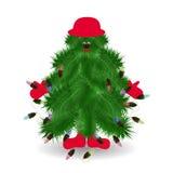 Albero di Natale divertente Illustrazione Vettoriale