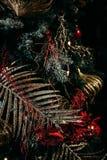 Albero di Natale e decorazioni di natale Fotografie Stock
