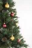Albero di Natale e decorazioni Fotografie Stock