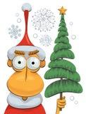 Albero di Natale e del Babbo Natale Immagini Stock Libere da Diritti