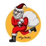Albero di Natale e del Babbo Natale Immagine Stock